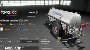 Liquid manure set galvanized 9000 liters v 2.0, 4 photo